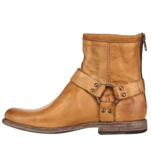 Frye | Camel Phillip Harness Ankle Boot